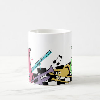 Colorful Musical Instruments Classic White Coffee Mug