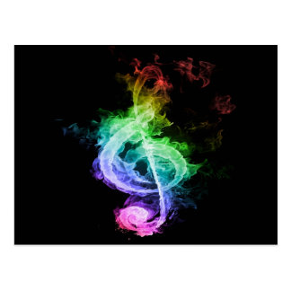 Colorful Musical Note Design Postcard