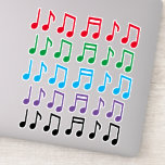 [ Thumbnail: Colorful Musical Note Symbols Sticker ]