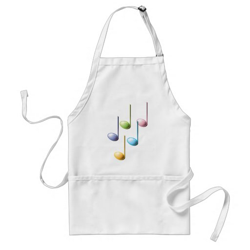 Colorful Musical Notes Adult Apron