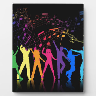 Colorful Musical Notes and Dancers Plaque