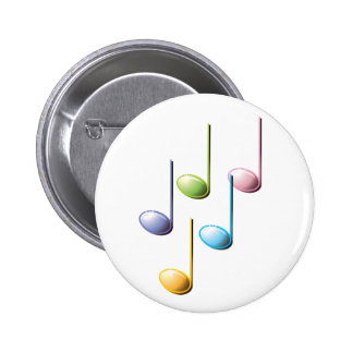 Colorful Musical Notes Button