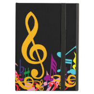 Colorful Musical Notes iPad Folio Cases