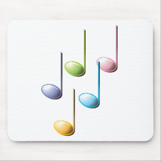 Colorful Musical Notes Mouse Pad