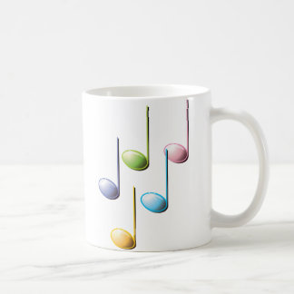 Colorful Musical Notes Classic White Coffee Mug