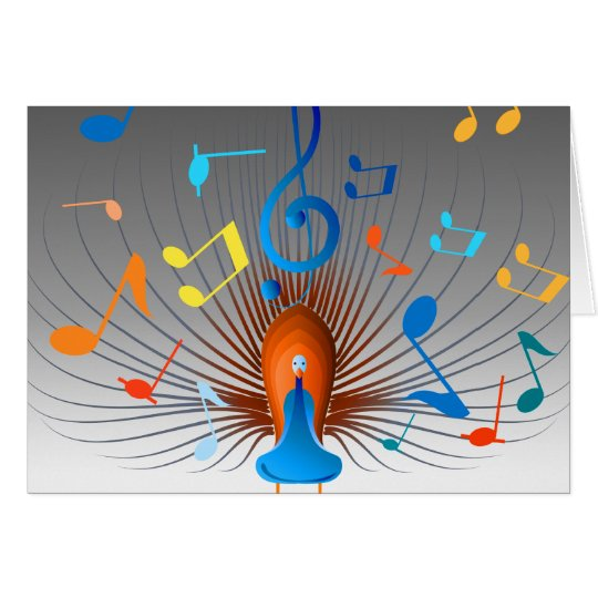 Colorful Musical Notes Peacock