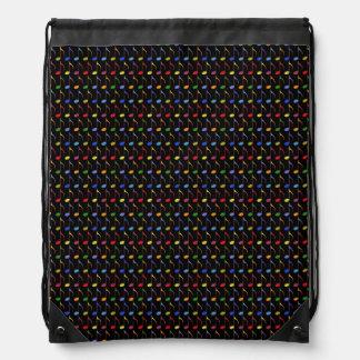 colorful musical notes drawstring backpacks