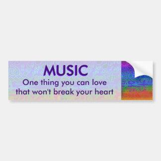 Colorful Musical Symbols Bumper Sticker