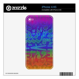 Colorful Musical Symbols Zazzle Skin