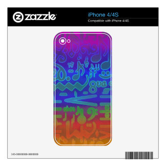 Colorful Musical Symbols Zazzle Skin Decal For The iPhone 4S