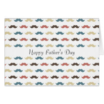 Colorful Mustaches Card