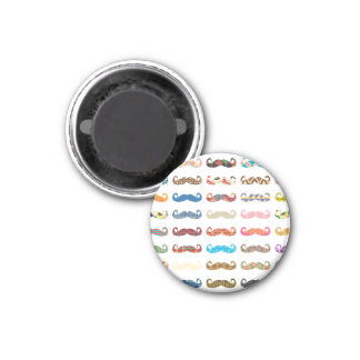 Colorful Mustaches Refrigerator Magnet