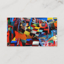 Colorful Mystic Face Business Card