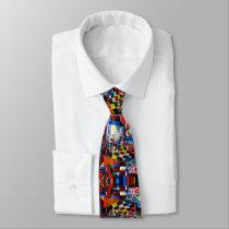 Colorful Mystic Face Neck Tie