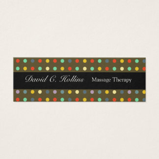 Colorful N Dotted Pattern Personal Care Mini Business Card