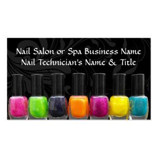 Colorful Nail Polish Bottles, Nail Salon Business Card Templates