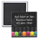 Colorful Nail Polish Bottles, Nail Salon Fridge Magnet