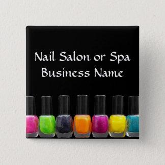 Colorful Nail Polish Bottles, Nail Salon Pinback Button