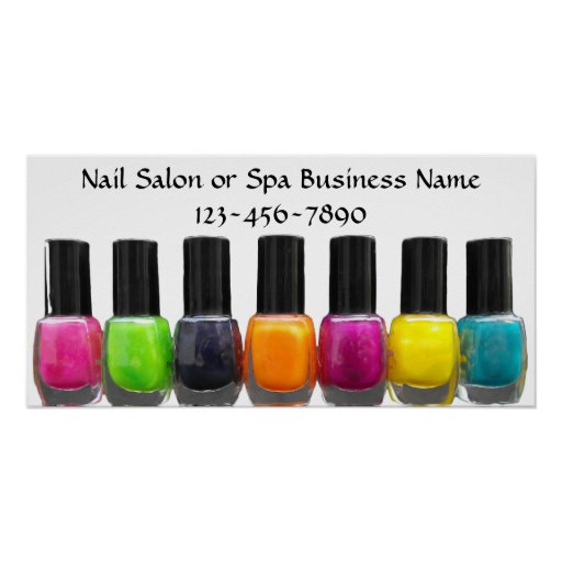 Colorful Nail Polish Bottles, Nail Salon Print
