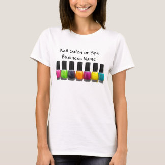 Colorful Nail Polish Bottles, Nail Salon T-Shirt