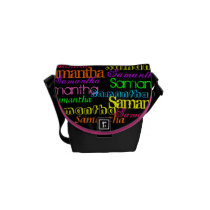 Colorful Name Collage Bag