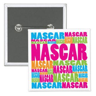 Colorful NASCAR Pinback Button