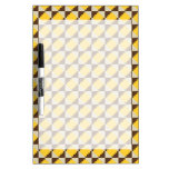 Colorful Native American Gold Brown Tribal Print Dry-Erase Board