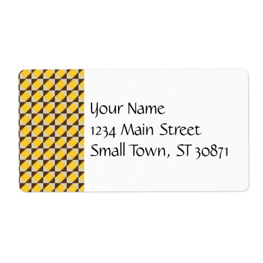 Colorful Native American Gold Brown Tribal Print Shipping Label