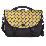 Colorful Native American Gold Brown Tribal Print Laptop Commuter Bag