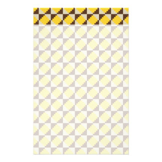 Colorful Native American Gold Brown Tribal Print Stationery