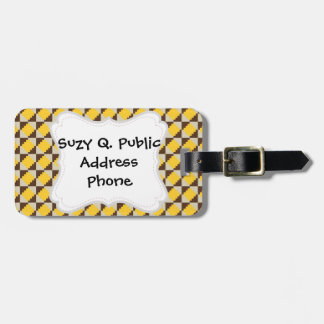 Colorful Native American Gold Brown Tribal Print Tags For Luggage