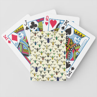 Colorful Native Bees Bicycle Playing Cards