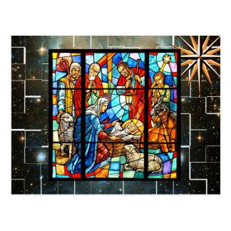 Colorful Nativity make seasonal or everyday Postcard