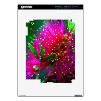 Colorful Nature Floral Hot Pink Neon Green Flowers Skins For iPad 3
