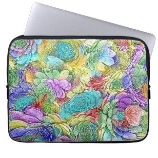 Colorful Nature Succulent Plants Laptop Sleeve