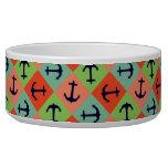 Colorful nautical anchor bowl