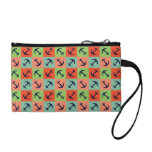 Colorful nautical anchor change purse