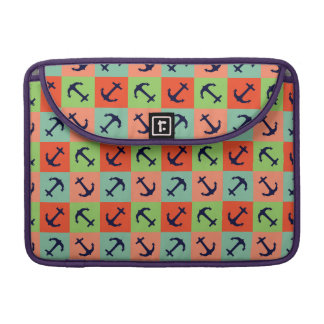 Colorful nautical anchor MacBook pro sleeve