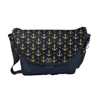 Colorful nautical Anchor Pattern Courier Bag