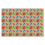 Colorful nautical anchor tissue paper