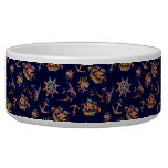 Colorful nautical pattern custom background bowl