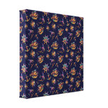 Colorful nautical pattern custom background canvas print