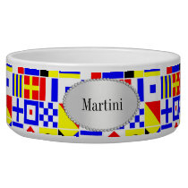 Colorful Nautical Signal Flags Pattern Bowl