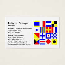 Colorful Nautical Signal Flags Pattern Business Card