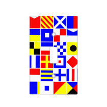 Colorful Nautical Signal Flags Pattern Light Switch Cover