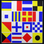"""Colorful Nautical Signal Flags Pattern Napkin<br><div class=""""desc"""">Colorful Nautical Signal Flags    A colorful pattern of nautical signal flags.    2013 &#169;FantabulousPatterns All rights reserved</div>"""