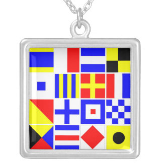 Colorful Nautical Signal Flags Pattern Custom Jewelry