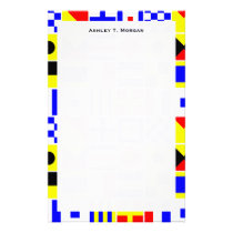 Colorful Nautical Signal Flags Pattern Stationery