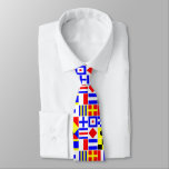 """Colorful Nautical Signal Flags Pattern Tie<br><div class=""""desc"""">Colorful Nautical Signal Flags    A colorful pattern of nautical signal flags.    2013 &#169;FantabulousPatterns All rights reserved</div>"""