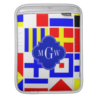 Colorful Nautical Signal Flags Royal 3I Monogram Sleeve For iPads
